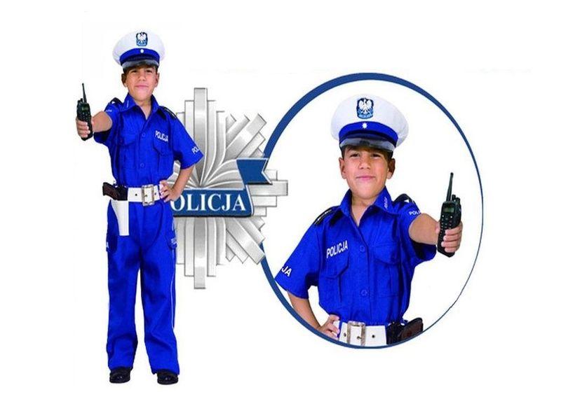 POLICJANT DROGÓWKA STRÓJ 104cm KARNAWAŁOWY KOSTIUM zdjęcie 1