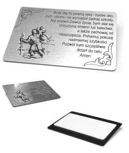 Emblemat z modlitą Św. Krzysztofa 55x35