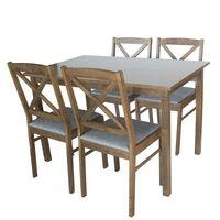 Zestaw kuchenny stół + 4 krzesła do jadalni kuchni nowoczesny drewniany X040 120x75 cm
