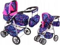 2w1 wózek dla lalek głęboki + spacerowy + torba