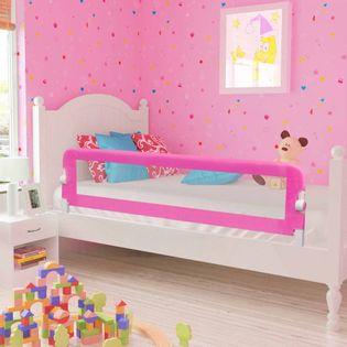 Barierki do łóżeczka 2 szt. różowe 150x42cm VidaXL