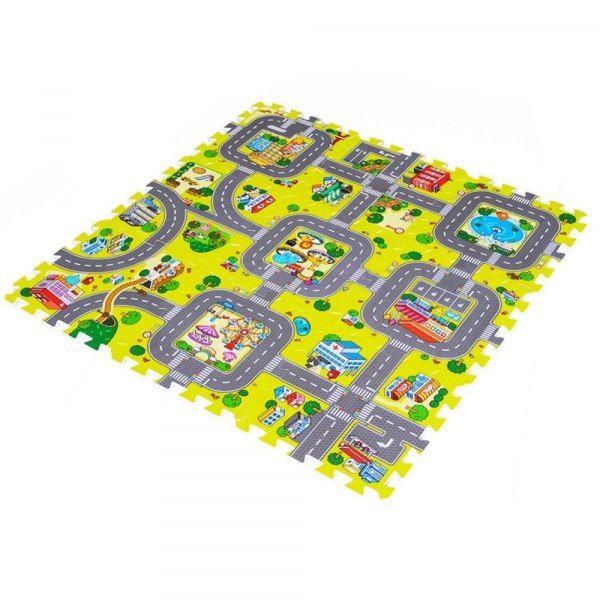 Duże puzzle piankowe mata dla dzieci ulica zdjęcie 8