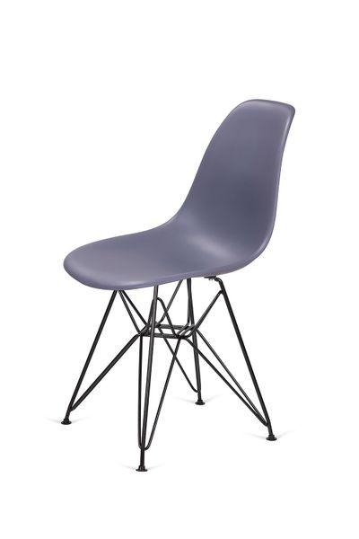 Krzesło DSR BLACK ciemny szary 04 - podstawa metalowa czarna zdjęcie 4
