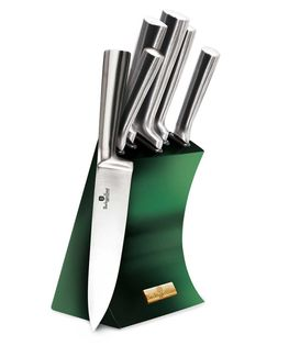 Zestaw Noży W Stojaku Berlinger Haus Emerald Metallic Line Bh-2448