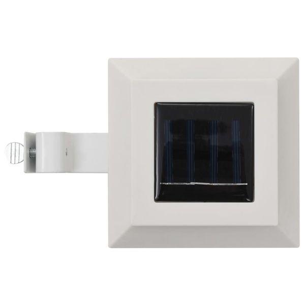 Lampy solarne do ogrodu, 12 szt., LED, kwadratowe, 12 cm, białe zdjęcie 5