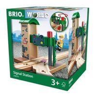 BRIO World Zwrotnica z Sygnalizacją do kolejek