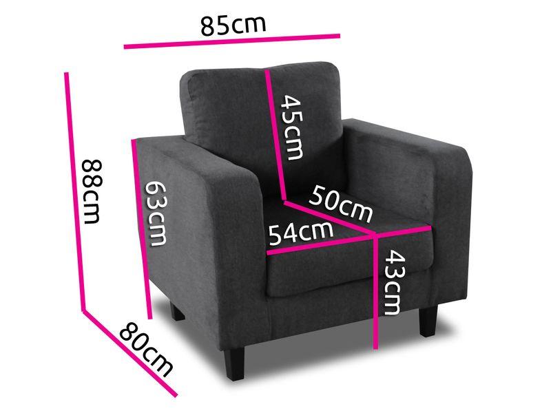 Fotel Kera w stylu skandynawskim do salonu zdjęcie 6