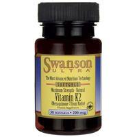 SWANSON Vitamin K2 200mcg 30kap Witamina MK-7 KOŚCI TĘTNICE