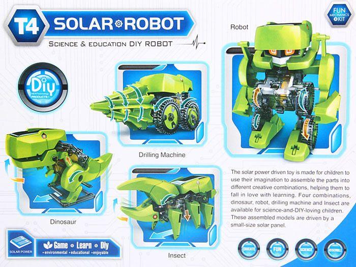 Solarny Dinozaur 4w1 Zabawka edukacyjna ZA1082 zdjęcie 10