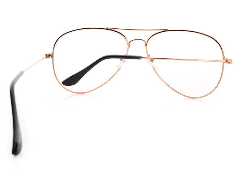 złote okulary ZERÓWKI PILOTKI zdjęcie 3