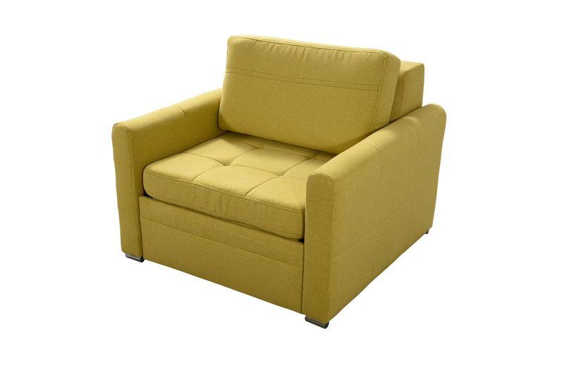 Fotel Vertus Rozkładany Z Funkcją Spania żółty