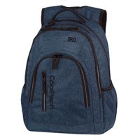 Dwukomorowy plecak szkolny CoolPack Mercator Plus 31 l, Snow Blue A320