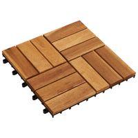 Drewniane Płytki Tarasowe (30 X 30 Cm) 10 W Zestawie