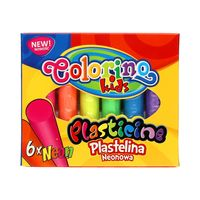 Plastelina 6 kolorów neonowych Colorino 42666PTR
