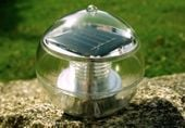 Lampa solarna biała LED, lampion ogrodowy w kształcie kuli zdjęcie 1