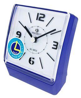 Perfect T0713 Budzik analogowy, alarm, podświetlenie, cichy mechanizm, szerokość ok. 8 cm