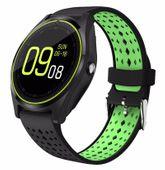 Smartwatch telefon V9 Zegarek Kamera SIM CZARNO-ZIELONY T256CZ