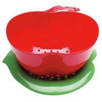 Durszlak jabłko z podstawką czerwono-zielony Zak! Designs