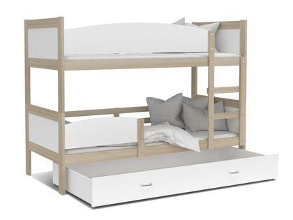 Łóżko piętrowe TWIST 190x80  szuflada + materace
