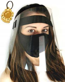 Przyłbica ochronna na twarz ochrona zTWOIM LOGO V2