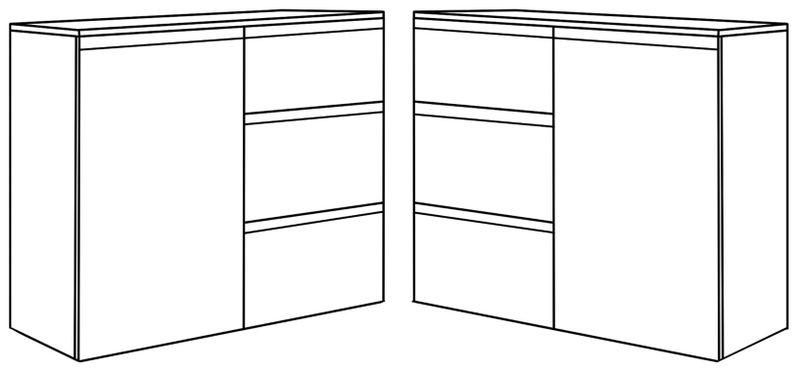 KOMODA MEGAN K2 BIAŁA 90 cm na ubrania do salonu przedpokoju sypialni na Arena.pl