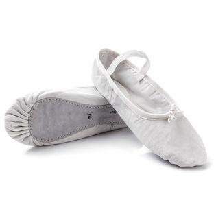 Baletki gimnastyczne skórzane Meteor białe 38