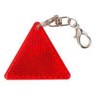 Brelok odblaskowy trójkąt Safe, czerwony/biały R73236.08