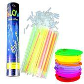 Opaski Fluorescencyjne Świecące Pałeczki FLUO 100 szt