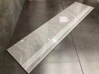 Szare MARMUROWE płytki schodowe polerowane 120x30