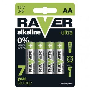 Bateria alkaliczna Raver Ultra Alkaline AA (LR6) blister 4