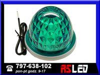 Lampa LED 12 SMD kogut zielona 12v 24v światło stałe przemysłowa