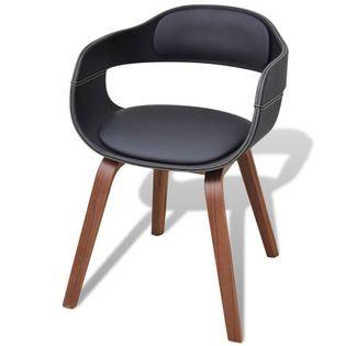 Krzesło Do Jadalni, Nogi Z Giętego Drewna, Eko-Skóra
