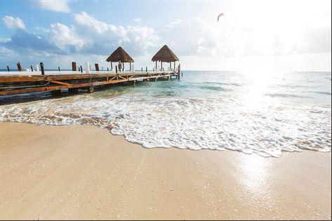 Fototapeta Plaża Morze Pomost PEJZAŻ do Sypialni 405x270