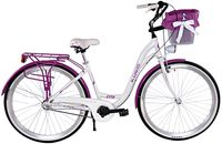Kozbike Rower miejski 28 damski damka 3biegi ALUMINIUM 10-02 +kosz