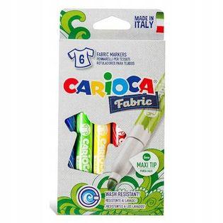 Pisaki Mazaki do tkanin 6 kolorów CARIOCA Fabric