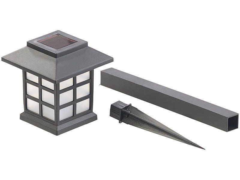 """Lampy ogrodowe solarne 6 sztuk Lunartec """"Asian"""" zdjęcie 2"""