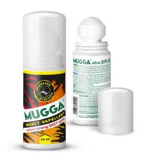 MUGGA Strong Roll-On 50% DEET NA KOMARY I KLESZCZE odstraszacz