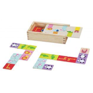 Classic World Drewniana Układanka Gra Domino - Zwierzątka 30 Elementów