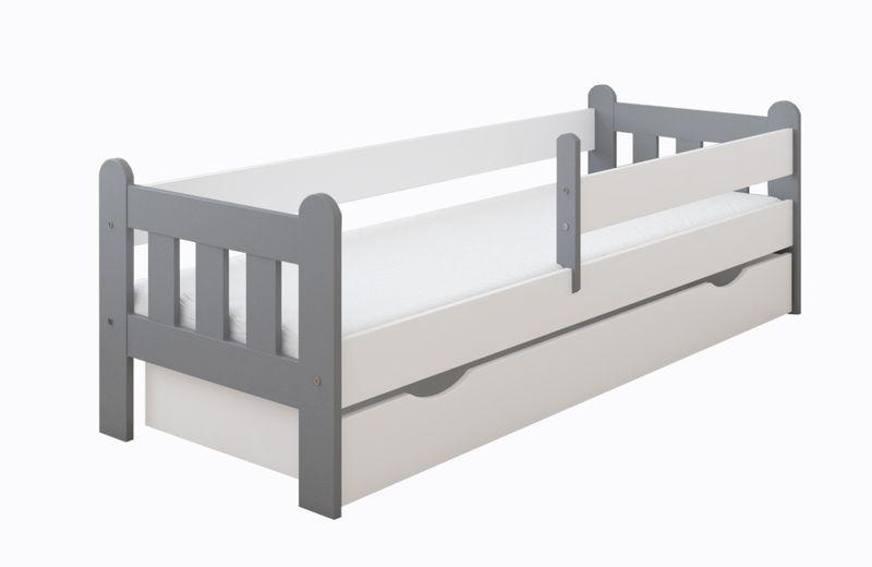 Łóżko STAŚ 140 x 70 z szufladą + barierka ochronna + MATERAC GRATIS zdjęcie 13