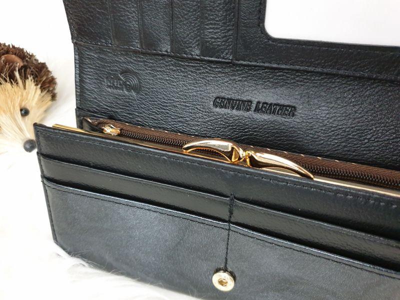 ROVICKY portfel skórzany damski lakierowany RFID P085 czarny zdjęcie 7