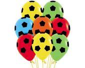 Balony Sempertex Piłka nożna 12'' 12 szt Mix