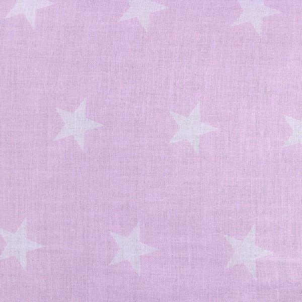 Lulando Poduszka do wózka MINKY, Szary / białe gwiazdki na różowym tle, 40x30 cm zdjęcie 6