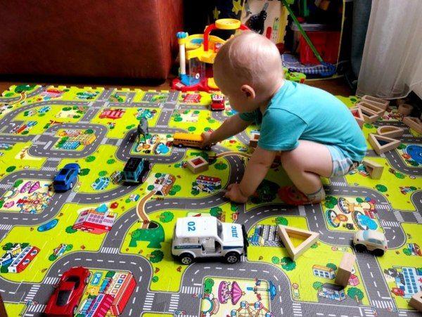 Duże puzzle piankowe mata dla dzieci ulica zdjęcie 7