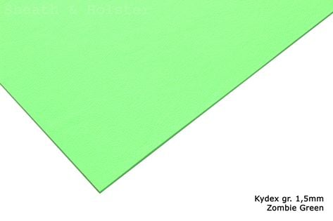 Kydex Zombie Green - 150x200mm gr. 1,5mm