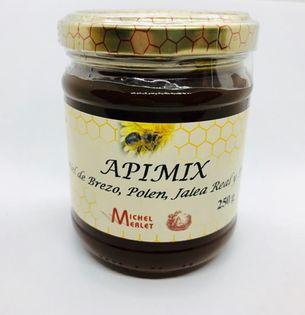Miód wrzosowy APIMIX z pyłkiem, mleczkiem pszczelim i propolisem 250g