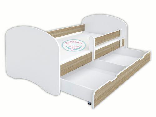 Łóżko dziecięce HAPPY 140x70 z szufladą i materacem – dąb sonoma na Arena.pl