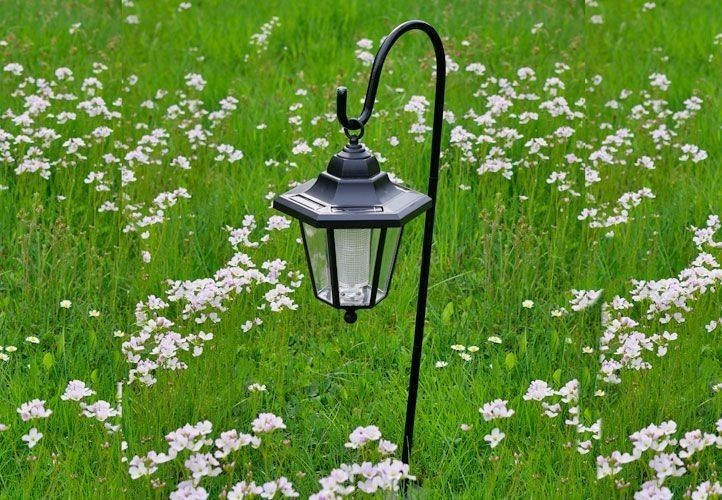Lampa solarna w kształcie latarni LED, wysokość 70 cm zdjęcie 1
