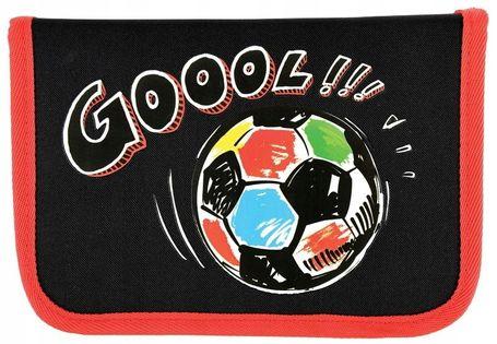 Piórnik Szkolny Dwuklapkowy Football Piłka Gol