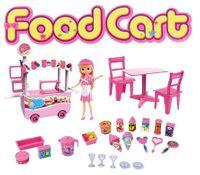 Lodziarnia Wózek z Lodami Dla Lalek Barbie Y91