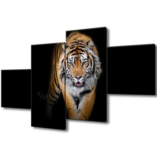 Obraz Na Ścianę 160X90 Tygrys Tygrys Zwierzę zdjęcie 1